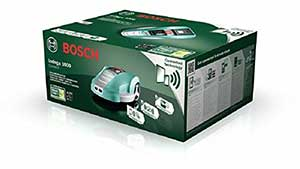 Verpackung des Bosch Indego 1000 Connect