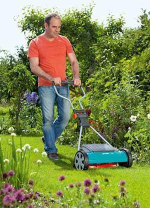 Rasenpflege mit einem Spindelmäher